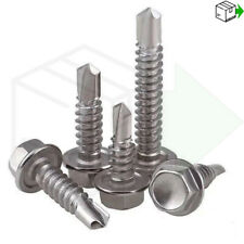 SELF DRILLING SCREWS HEX HEAD SELF TAPPER TAPPING BUZZ SCREW METAL BOLT