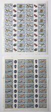 2 Fogli Francobolli Costruzioni Aerei 1981 - 1982