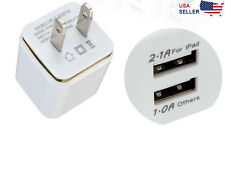 2-Port Dual USB Wall Adapter Charger US Plug For Samsung Apple iPhone LG HTC