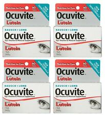 4 Pack Bausch & Lomb Ocuvite Eye Vitamin & Mineral Supplement with Lutein 60 Ea