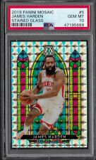 2019 Panini Mosaic Stained Glass Prizm #5 James Harden Rockets Psa 10 Gem Mint