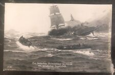 1915 Germany Marine feldpost Picture Postcard Cover U Boat Submarine Enemy