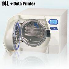 14L Medical Dental Autoclave Sterilizer Cabinet High Pressure Heat+Data Printer