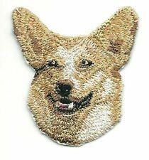1 7//20.3cm x 5.1cm Hellbraun Golden Welsh Corgi Pembroke Dog Rasse Bild Sticken