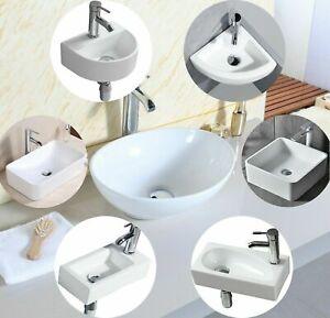Bathrooms Small Cloakroom Basin Wall Mounted Basin Rectangular Countertop Basin