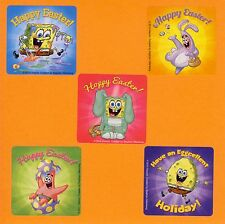 10 SpongeBob Easter - Large Stickers - Party Favors - Rewards