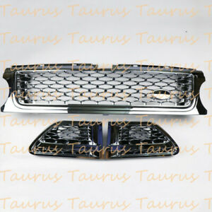 ABS Chrome Front Grille&Air Vent Grill For Land Rover Range Rover Sport 2006-13