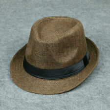 Hot Jazz Beach Hat Sun Panama Gangster Cap Men's Women Unisex Trilby Fedora