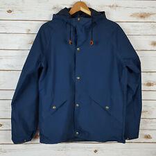 Vintage Cabelas Gortex Rain Jacket Size S Hooded Navy Blue USA Made