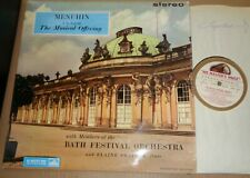 Menuhin/Bath Festival BACH The Musical Offering - HMV ASD 414 White/Gold