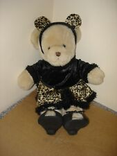 Rare original Build a Bear workshop BABW bear  in Pussy cat outfit exc con