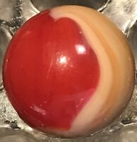 """AKRO AGATE RED/YELLOW PATCH MARBLE 0.68"""""""