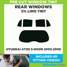 Pre Cut Window Tint - Hyundai Atos 5-door Hatchback 2003-2008 - 5% Limo Rear
