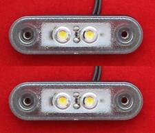 2x LED Flush White Marker Light BULL NUDGE BAR 12V/24V Car 4x4 Offroad SUV Van