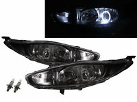 Fiesta BE91 13-17 FACELIFT Guide LED Halo Projector Headlight Black for FORD LHD