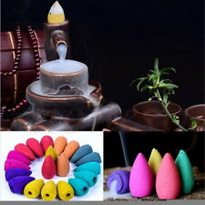 70x Natural Aromatherapy Cones Fragrance No Holders Incense Backflow #A6R