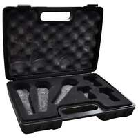 Soundlab Black ABS Microphone Carry Case for Three Mics and Holders Foam Filled