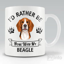 I'D RATHER BE HOME WITH MY BEAGLE Funny mug, novelty cup | dog lover gift