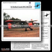 #021.05 DE HAVILLAND CANADA DHC 2 BEAVER - Fiche Avion Airplane Card