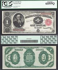 $1 1891=Fr. 352=Stanton=Treasury Note=Gorgeous=Pcgs Gem New 65 Ppq