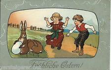 "Postkarte ""Fröhliche Ostern"" nach Lemgo / Lippe um 1915"