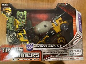 Transformers G1 Hasbro Universe Heavy Load MISB Generations Robots In Disguise