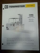 Caterpillar Lift Truck Brochure~T350/T400 Fork Lift~Specifications/Data Sheet