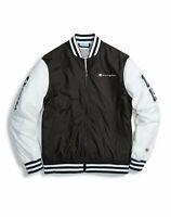 Champion Life Mens Jacket Baseball Multi Logo Patches Retro Varsity Zip Classic