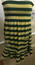 NEW USF Bulls NCAA Green/Gold Sleeveless Small Dress University of South Florida