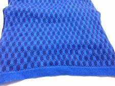 $540 BLOOMINGDALES CASH CA Mens BLUE UNISEX WOOL CASHMERE WINTER SHAWL SCARF