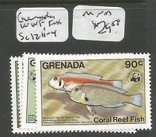 Grenada WWF Fish SC 1211-4 MNH (7cup)