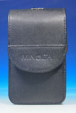 Minolta X 11x7x3,5 cm borsa bag case astuccio guscio in pelle Leather - (43577)
