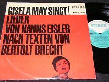"""GISELA MAY SINGT LIEDER VON HANNS EISLER... / DDR 10""""EP 1966 ETERNA 720164"""