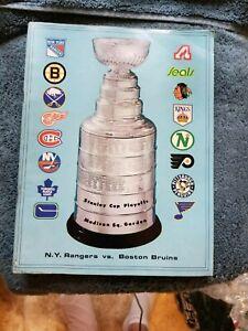 1972-73 N.Y. RANGERS VS BOSTON BRUINS STANLEY CUP PLAYOFFS BOBBY ORR GROBEE 1957
