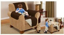 Reversible Quilted Sofa Protector Furniture Throw Cover Waterproof 1/2/3 Seater
