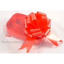 Florists Pull Ribbon Bows by Oasis® 5cm makes 15cm bow Box of 20 Bright Red