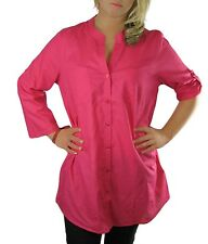 LADIES SUMMER BLOUSES - COTTON PLUS SIZES 8 -18 coral pink