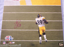Willie Parker signed auto Pittsburgh Steelers Super Bowl 40 TD Run 16x20 photo