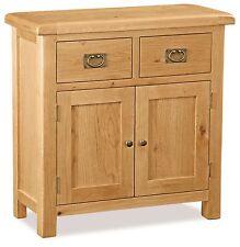 Zelah Oak Mini Sideboard / 2 Drawer Oak Cupboard / Solid Wood Waxed Cabinet /New
