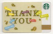 Starbucks Coffee Thank You Gracias Merci Collage 2012 Gift Card Collectible