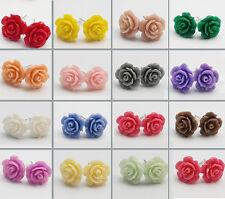 U Pick 1Pair (2pcs) Blooming Rose Flower Stud Earring Classic Vintage