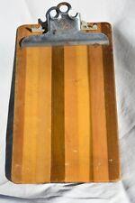 Vintage WWII Era Globe Wernicke Wooden Clip Board 6 1/2 by 11 inches Rare