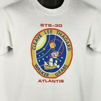 STS-30 NASA Space Shuttle Mission T Shirt Vintage 80s Atlantis Made In USA XL