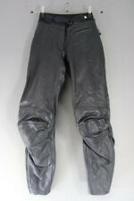 IXS CLASSIC BLACK LEATHER BIKER TROUSERS: WAIST 26 INCHES/INSIDE LEG 28 INCHES