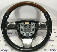 2009 09 Cadillac STS EBONY CASHMERE HEATED LEATHER & WOODGRAIN STEERING WHEEL
