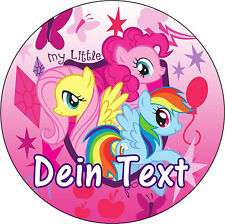 Tortenaufleger My Little Pony Filly Dekoration DVD NEU mit Namen cd Fototorte