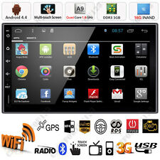 """Android 4.4 3G WiFi Double 2 Din 7"""" Car GPS Stereo MP5 Player Bluetooth FM Radio"""