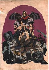 Misfits Fan Caricature Art by Karl Stephan Laser Print on A3 220gsm Paper