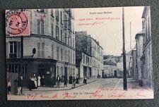 CPA. IVRY sur SEINE. 94 - Rue du Château. 1904. Télégraphes.