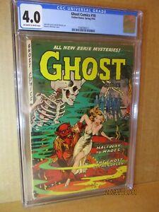 Ghost Comics 10 CGC 4.0 Classic Whitman Werewolf Headlights 1954 Fiction House🐺